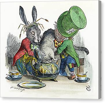 March Hare Canvas Print - Alice In Wonderland by Granger