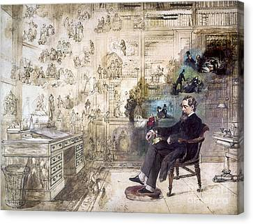 Late Canvas Print - Charles Dickens (1812-1870) by Granger