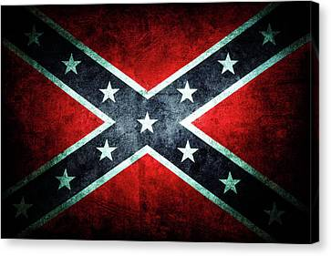 Confederate Flag Canvas Print by Les Cunliffe