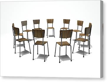 Group Therapy Chairs Canvas Print