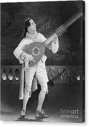 Lute Canvas Print - Rudolph Valentino by Granger