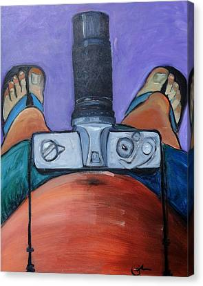 Canvas Print featuring the painting 200 Zoom by Gary Coleman