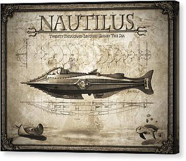 20,000 Leagues Under The Sea Canvas Print by Robert Slack