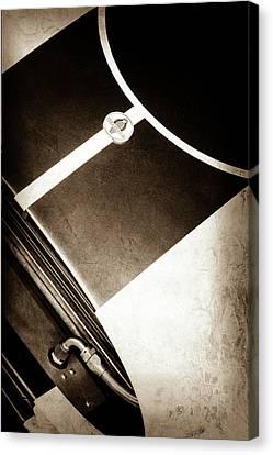2001 Canvas Print - 2001 Shelby Cobra Replica Hood Emblem -0355s by Jill Reger