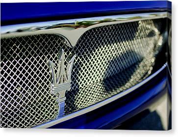 2002 Maserati Hood Ornament Canvas Print by Jill Reger