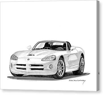 2005 Dodge Srt 10 Roadster Canvas Print by Jack Pumphrey
