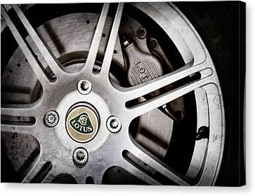 2005 Lotus Elise Wheel Emblem -1679ac Canvas Print by Jill Reger
