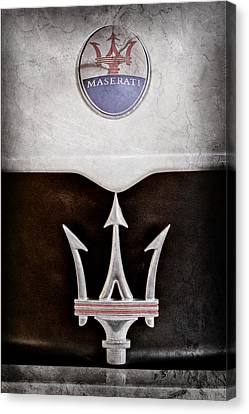 2005 Maserati Mc12 Hood Emblem -0803ac Canvas Print by Jill Reger