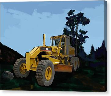 2006 Caterpillar 12h Vhp Plus Motor Grader Canvas Print by Brad Burns