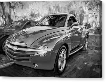 2006 Ssr Chevrolet Truck Painted Bw Canvas Print by Rich Franco