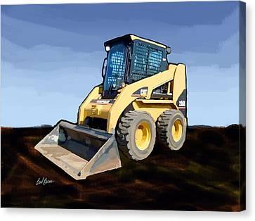 2007 Caterpillar 236b Skid-steer Loader Canvas Print by Brad Burns