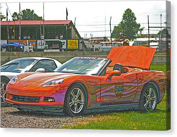 2007 Indianapolis Pace Car Canvas Print by Darrell Foster