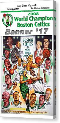 2008 Boston Celtics Team Poster Canvas Print by Dave Olsen