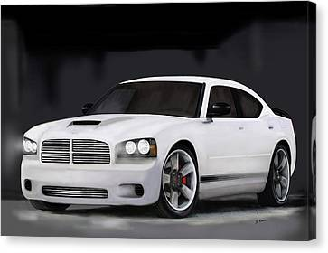 2008 Charger Canvas Print