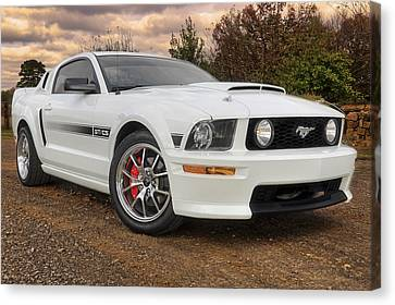 Canvas Print featuring the photograph 2008 Mustang Gt/cs - California Special - Sunset by Jason Politte