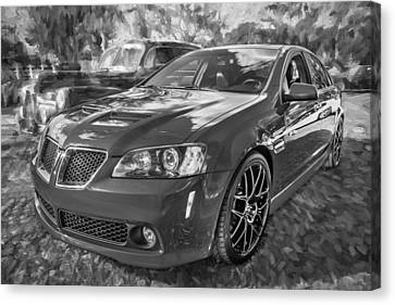 2008 Pontiac Gt8 Painted Bw   Canvas Print by Rich Franco