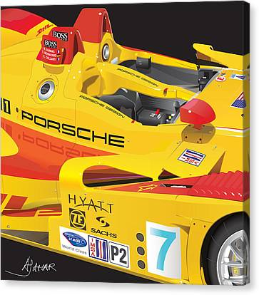 2008 Rs Spyder Illustration Canvas Print