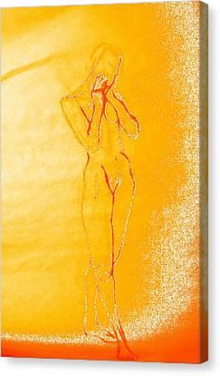 2009 Figure Study 6 Canvas Print by Carol Rashawnna Williams