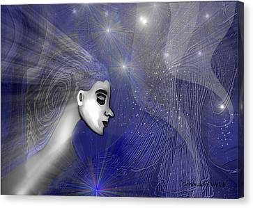 201 -   Traveling  Through   Veils Of Universe Canvas Print by Irmgard Schoendorf Welch