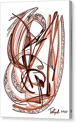 2010 Abstract Drawing Five Canvas Print