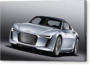 2010 Audi E Tron 4 Wide Canvas Print by F S