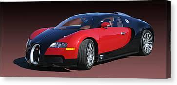 2010 Bugatti Veyron E. B. Sixteen Canvas Print by Jack Pumphrey
