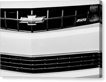 2010 Chevrolet Nickey Camaro Ss Grille Emblem -0078bw Canvas Print