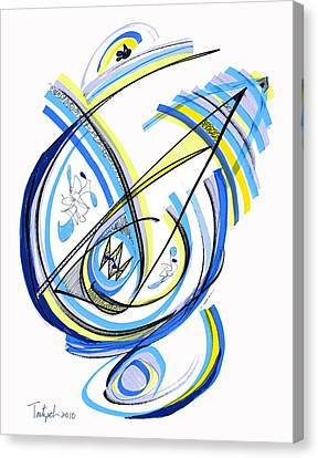2010 Drawing One Canvas Print