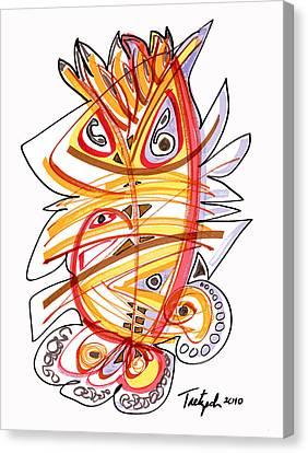 2010 Drawing Three Canvas Print