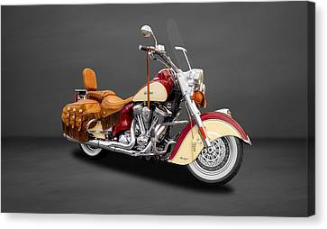 2010 Indian Chief Vintage Motorcycle   -   2010indian22 Canvas Print by Frank J Benz