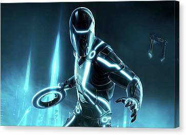 2010 Tron Evolution Canvas Print by F S