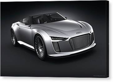 2011 Audi E Tron Spyder Wide Canvas Print by F S