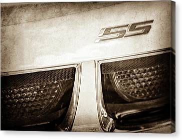 2011 Chevrolet Camaro Indianapolis 500 Pace Car Ss Taillight Emblem -0316s Canvas Print by Jill Reger