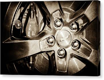 2011 Chevrolet Camaro Indianapolis 500 Pace Car Wheel -0317s Canvas Print by Jill Reger