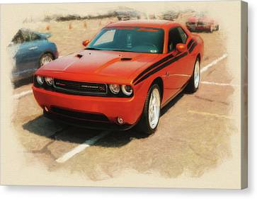 2011 Dodge Challenger R/t Stp Canvas Print by Rich Fiddelke