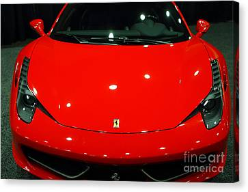 2011 Ferrari 458 Italia . 7d9396 Canvas Print by Wingsdomain Art and Photography