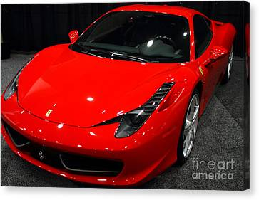 2011 Ferrari 458 Italia . 7d9397 Canvas Print by Wingsdomain Art and Photography