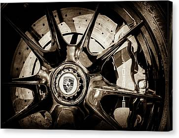 2011 Porsche 997 Gt3 Rs 3.8 Wheel Emblem -0989s Canvas Print