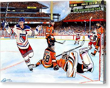 Citizens Bank Park Canvas Print - 2012 Bridgestone-nhl Winter Classic by Dave Olsen