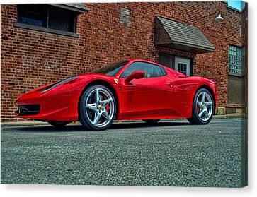 Canvas Print featuring the photograph 2012 Ferrari 458 Spider by Tim McCullough