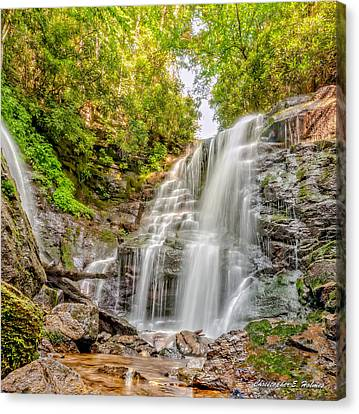 Canvas Print featuring the photograph Rocky Falls by Christopher Holmes