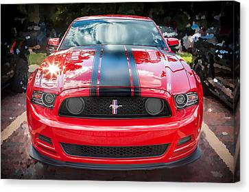 2013 Ford Boss 302 Mustang  Canvas Print by Rich Franco