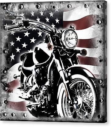 2013 Kawasaki Vulcan Classic Freedom Canvas Print