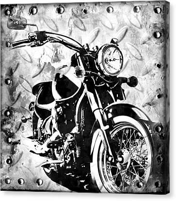 2013 Kawasaki Vulcan Monotone Canvas Print