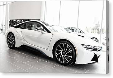 Canvas Print featuring the photograph 2014 Bmw E Drive I8 by Aaron Berg