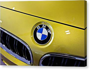Canvas Print featuring the photograph 2015 Bmw M4 Hood by Aaron Berg