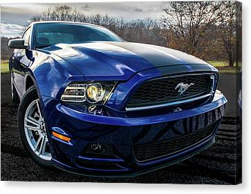 Canvas Print featuring the photograph 2014 Ford Mustang by Randy Scherkenbach