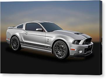 2014 Mustang Shelby Cobra Gt500  -  2014mustang217-3c Canvas Print