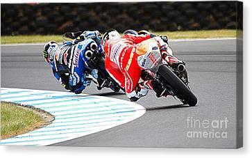 2015 Aussie Moto Grand Prix Canvas Print by Blair Stuart
