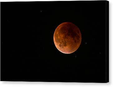 2015 Blood Harvest Supermoon Eclipse Canvas Print by Terry DeLuco